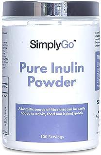 Inulina en polvo 500gr - ¡100 porciones en cada bote! - Apto para veganos - SimplySupplements