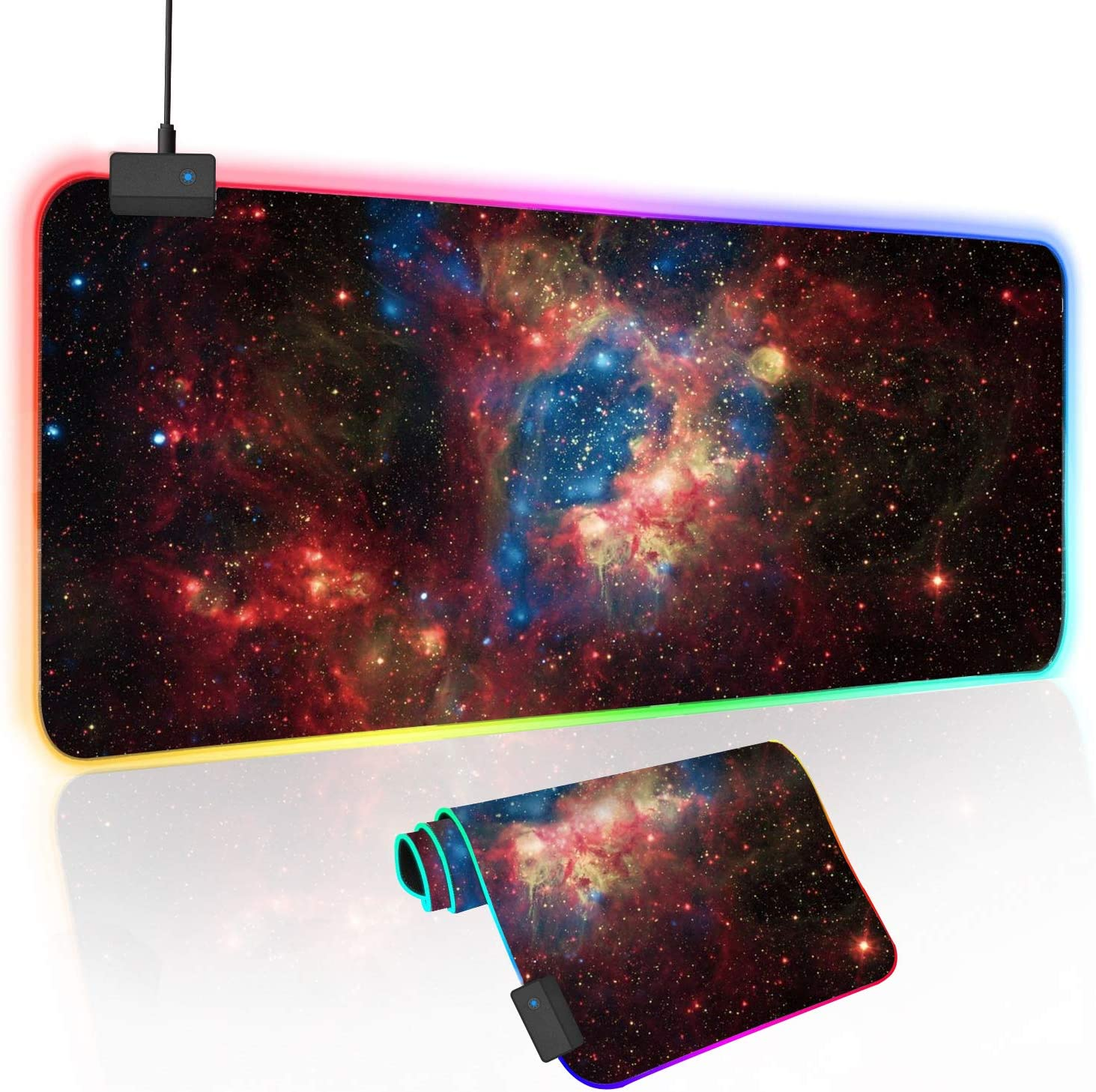 O'woda RGB Gaming Mouse Mat 31.5 x 12 0.2 Super popular specialty store Mous Popular LED inch Large