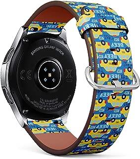 Compatible con Samsung Galaxy Watch (46 mm) – Correa de Reloj de Cuero con pasadores de liberación rápida (Taxi Coche)