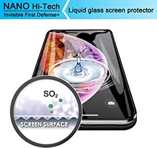 Liquid Glass Screen Protector - Ewadoo Scratch Resistant Wipe On Screen Protector for Samsung S9+/ Note 8 & Smartphones & Tablets - Nano Hi-Tech Invisible Coating Film for iPhone X/XS/XS Max/XR