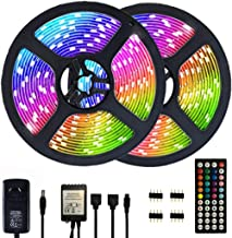 Segrasses 32.8ft 5050 RGB Led Strip Lights,10M 300 LEDs Rope Lights, IP20 Non Waterproof Color Changing with 20 Colors 8 L...