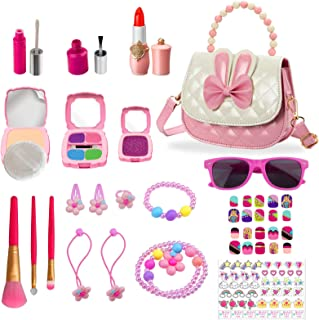 Kids Makeup Kit for Girl,Toy Kids Pretend Makeup,Looks Real But Totally Pretend,Safe & Mess Free, Christmas,Birthday Gift ...