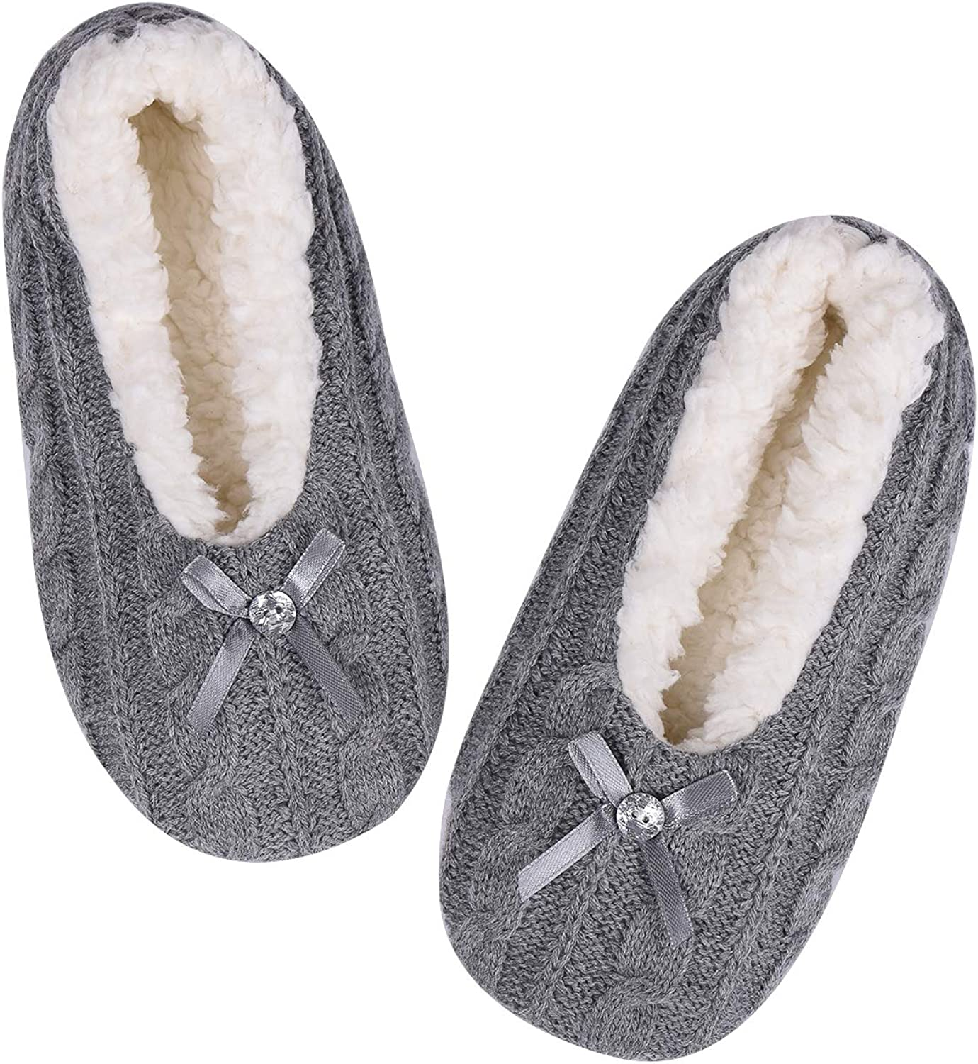 ALLBEST Womens Thick Warm Slipper Max 5% OFF 86% OFF - with Socks House Grippers