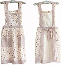 Hyzrz Hot Stylish Flower Pattern Womens Fashion Floral Cotton Chef Cooking Cook Apron Bib with Pockets for Girls 17#
