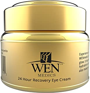 Anti Wrinkle Eye Cream - Clinically Proven Anti Aging Treatment for Dark Circles- Crow's Feet - Puffiness & Eye Bags - 24 Hour Recovery Eye Cream by WENmedics - FREE ebook included
