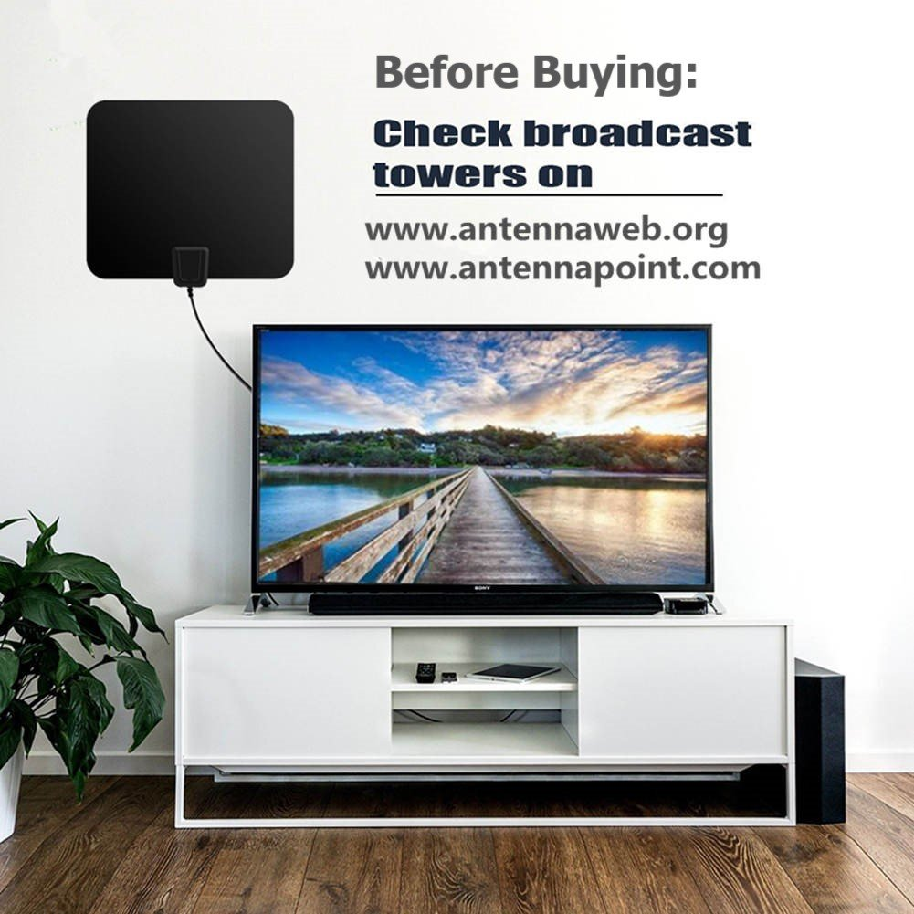 """7/""""Photo Frame Design HD Digital TV Antenna,HDTV Indoor Antenna with Amplified Signal Booster 80 Mile Range with 13ft Coaxial Cable for 4K HDTV and Local TV Channels"""
