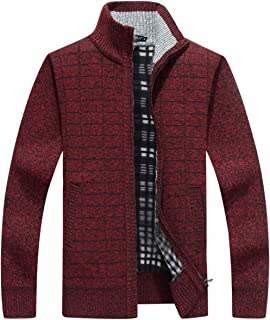 Msmsse Men s Casual Knitted Cardigan Sweate Thick Full Zip Utility Pocket f065924c9