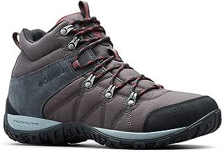 Columbia Men's Peakfreak Venture MID LT Hiking Boot, Shark, Mountain red, 11 Regular US