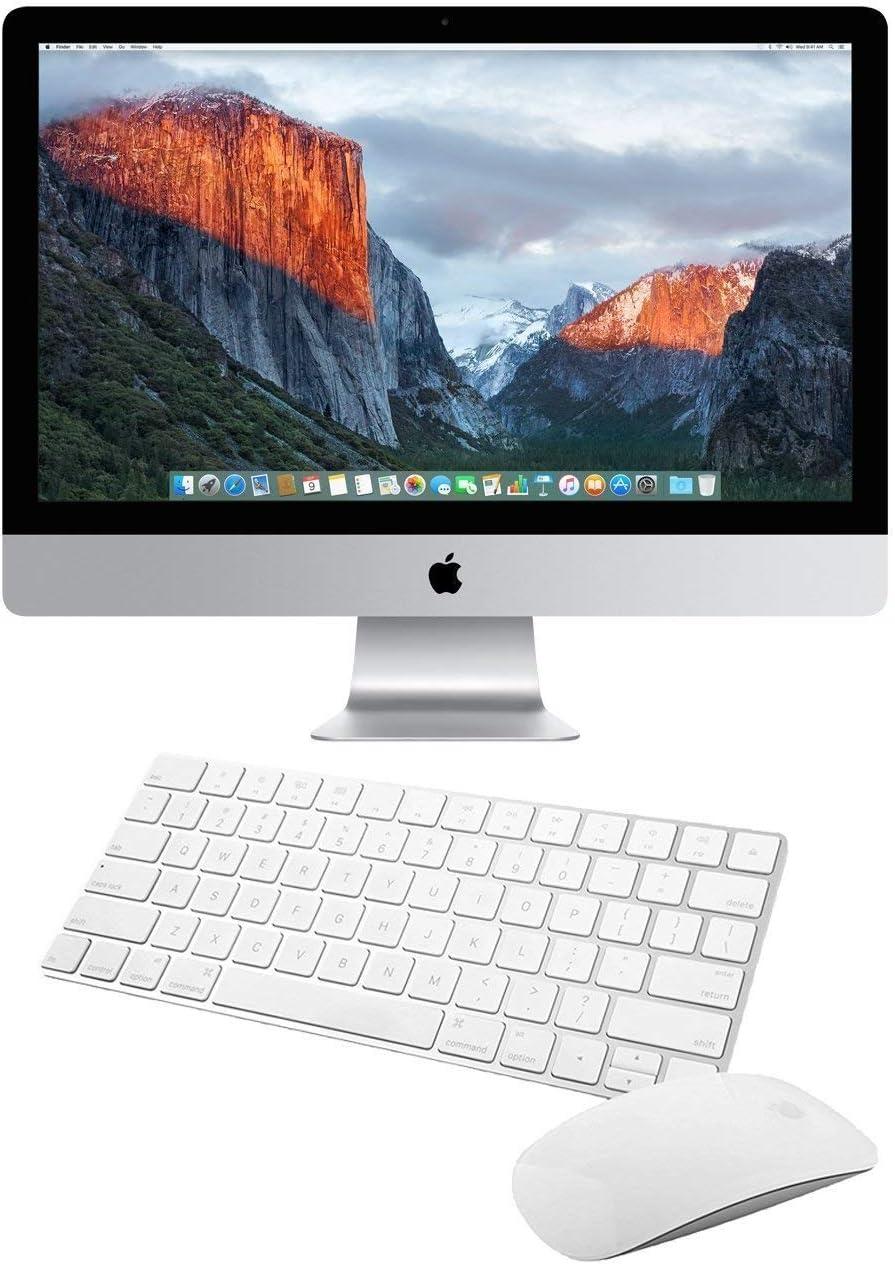 Apple iMac MK482LL/A 27-Inch Retina 5K Display Desktop (Intel Quad-Core i5 3.3GHz, 8GB RAM, 2TB Fusion Drive, Mac OS X), Silver ()(Renewed)