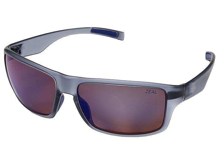Zeal Optics  Incline (Matte Smoke with Polarized Horizon Blue Lens) Athletic Performance Sport Sunglasses