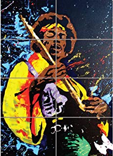 JIMI HENDRIX MUSIC GUITAR ROCK HERO GIANT ART PRINT NEW POSTER PICTURE EN179