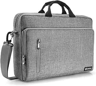 tomtoc 15.6 Inch Laptop Shoulder Bag, Multi-Functional Laptop Messenger Bag Briefcase for 15-inch MacBook Pro, Dell XPS 15, Surface Book 2, Ultrabooks, Chromebooks, Notebooks, Gray