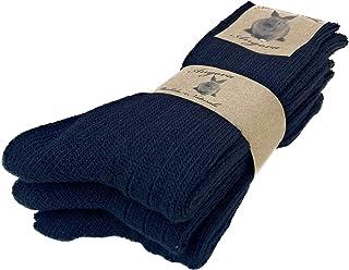 DREAM SOCKS Calcetines cálidos de lana para hombre y mujer, calcetines de lana angora muy gruesos y suaves, 3 o 6 pares.