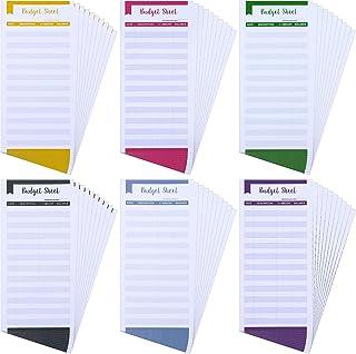 60 قطعة من أوراق تتبع تكلفة تتبع الميزانية لمظاريف ميزانية لمظاريف ميزانية الأوراق النقدية للاستخدام الشخصي والعمل (بنفسج...