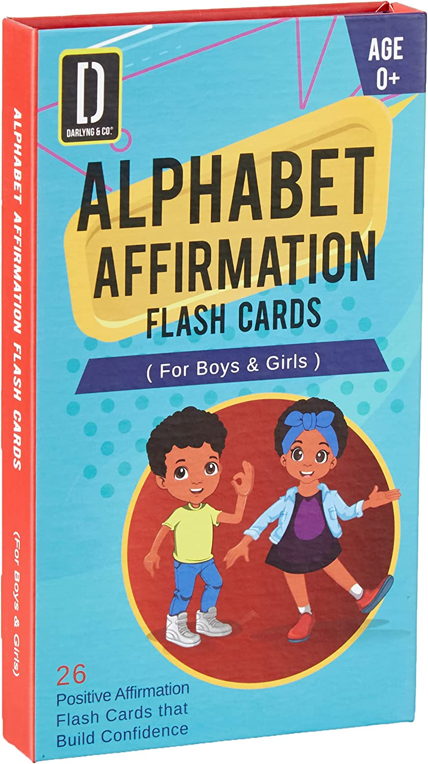 Darlyng Co.'s Modern Alphabet Affirmation Flash for Kids Easy-to-use Very popular Cards