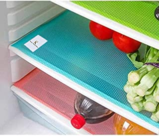 Kuber Industries™ Refrigerator Drawer Mats/Fridge Mats/Multi Purpose Mats Set of 6 Pcs (Multi Plastic)