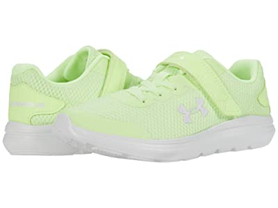 Under Armour Kids Surge 2 (Little Kid) (Lime Fizz/White/Crystal Lilac) Kids Shoes