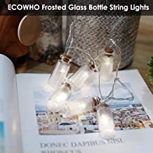 ECOWHO LED String Lights Battery Powered, 7.2 ft 20 LEDs White Vintage Clear Glass Jar Starry Fairy Lights for Christmas, Happy New Year, Garden, Party, Bedroom