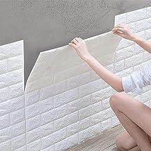 10 stuks 3D-zelfklevend behang, waterdichte muurstickers, baksteenbehang, wandbehang, schuimrubber voor slaapkamer, woonka...