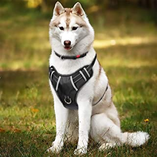 TIANYAO Dog Harness No Pull Reflective Oxford Material Soft Pet Vest Adjustable for Large Dogs Easy Control Harness with Dog Collar