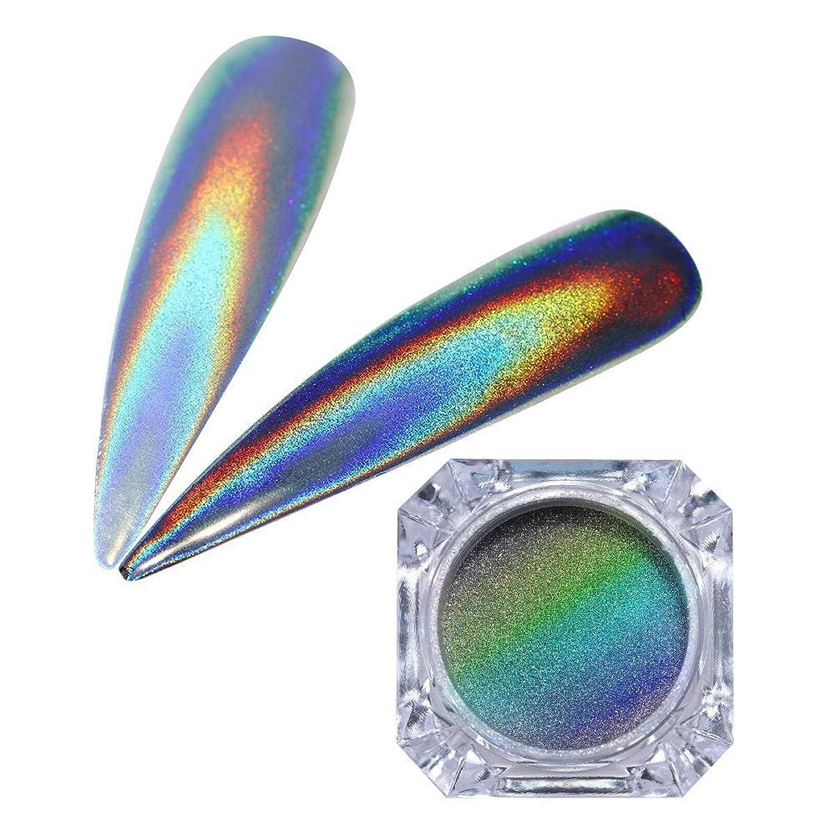 認証デモンストレーション意気込みBorn Pretty 1グラム 粉末ネイルグリッター虹色素マニキュアクロム顔料 ホログラフィック