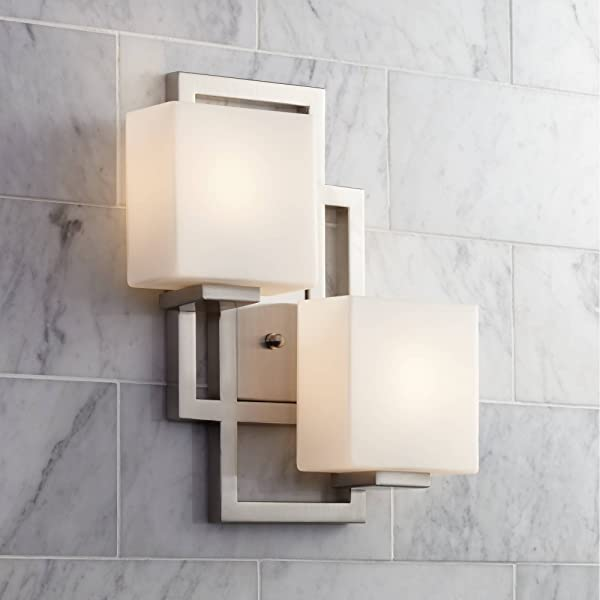 Lighting On The Square 15 1 2 H Brushed Nickel Wall Sconce Possini Euro Design
