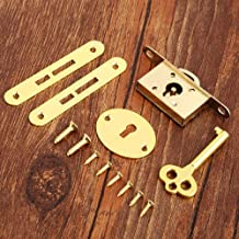 1 Set Golden Classic Locks, Zinklegering Sloten For Ladekast Kledingkast Kastdeuren, Antieke Meubelen Counter Lade Sloten,...