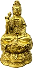 Feng Shui Buddha Statue Home Decoration Brass Buddhist Sculpture Kuan Yin Figurine Attract Wealth Prosperity and Good Luck...