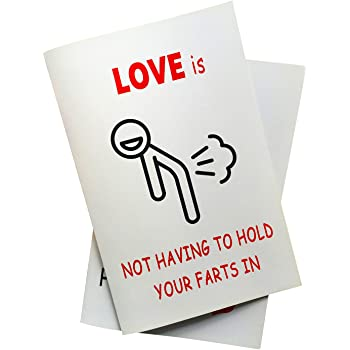 Love Is Not Having to Hold Your Farts in Anniversary Card, Birthday Card
