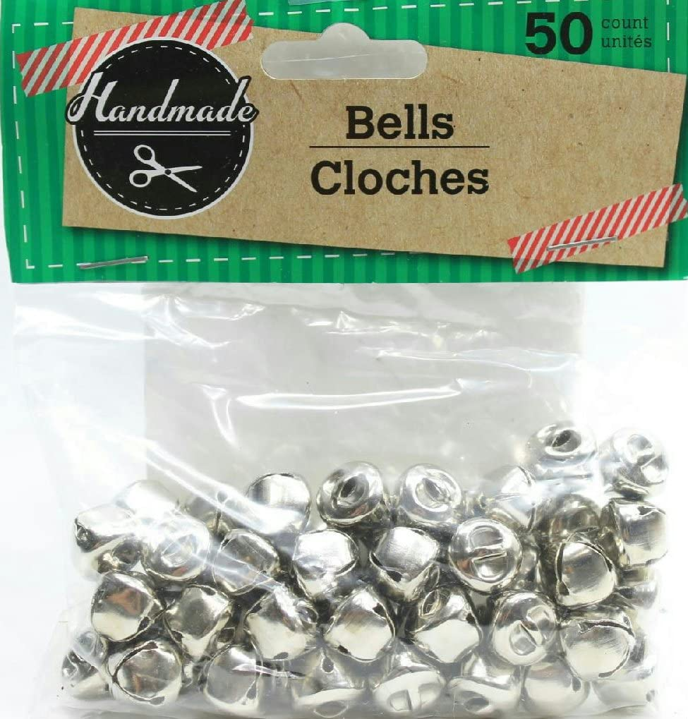Pack of 2 50 Store Deluxe Handmade Bells Jingle Craft Small Silver