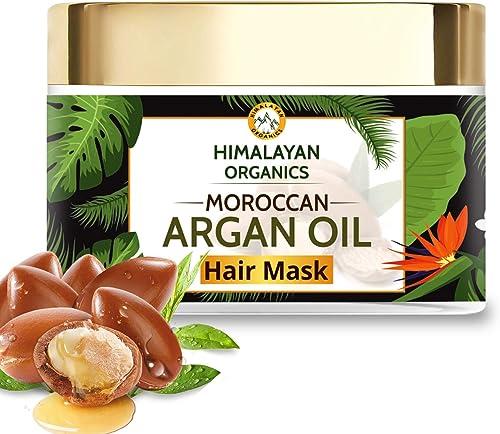 Himalayan Organics Moroccan Argan Oil Hair Mask with Bhringraj   No Parabens & Sulphate - 200ml