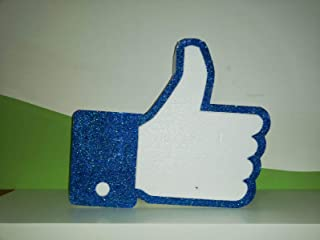 Simbolo Like FB Polistirolo per eventi, compleanni o scenografie glitterato blu con larghezza 47cm altezza 41cm profondità...