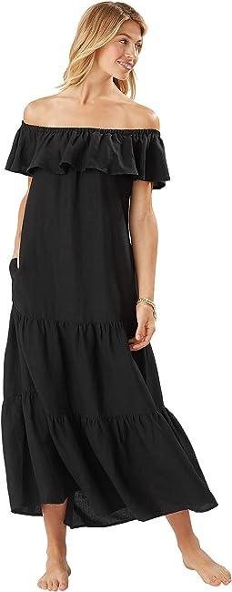 ST Lucia OTS Tier Maxi Dress