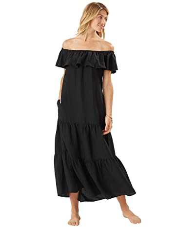 Tommy Bahama ST Lucia OTS Tier Maxi Dress (Black) Women