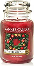Yankee Candle Glaskerze, groß, Red Apple Wreath