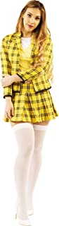 Clueless Cher Horowitz Costume | Authentic Movie Inspired Design | Includes Yellow Plaid Jacket, Skirt, Shirt | Adult Large