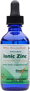 Good State Natural Ionic Zinc | Liquid Concentrate | Nano Sized Mineral Technology | Professional Grade Dietary Supplement | 1.6 fl oz Glass Bottle (50 mL)