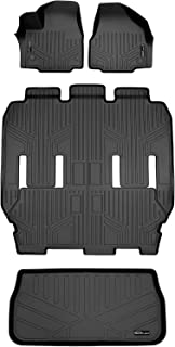 2nd and 3rd Row Floor Mats Custom-Fit for Chrysler Pacifica 2019-2019 Passenger GGBAILEY Charcoal Driver