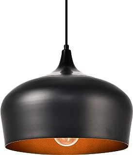 11.5 in. 1-Light Pendant in Black
