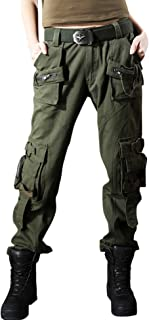 Women's Casual Loose Military Multi-Pocket Wild Ribstop Cargo Pant
