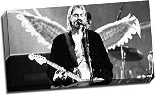 Panther Print Kurt Cobain Angel Wings Canvas Print Poster 30X16 Inches