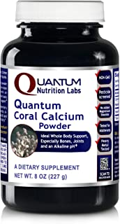Quantum Coral Calcium Powder, 8oz (175 Servings) Ideal Whole Body Support, Especially for The Bones, Joints, Teeth and an ...