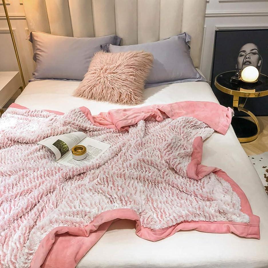 摂氏度待つ窒息させる両面 元に戻せる状態 ぬいぐるみ 毛布 掛け布団 エレガント 暖かい フランネル ブランケット 北欧スタイル ソフト 敷き毛布 冬 ソファ-ピンク