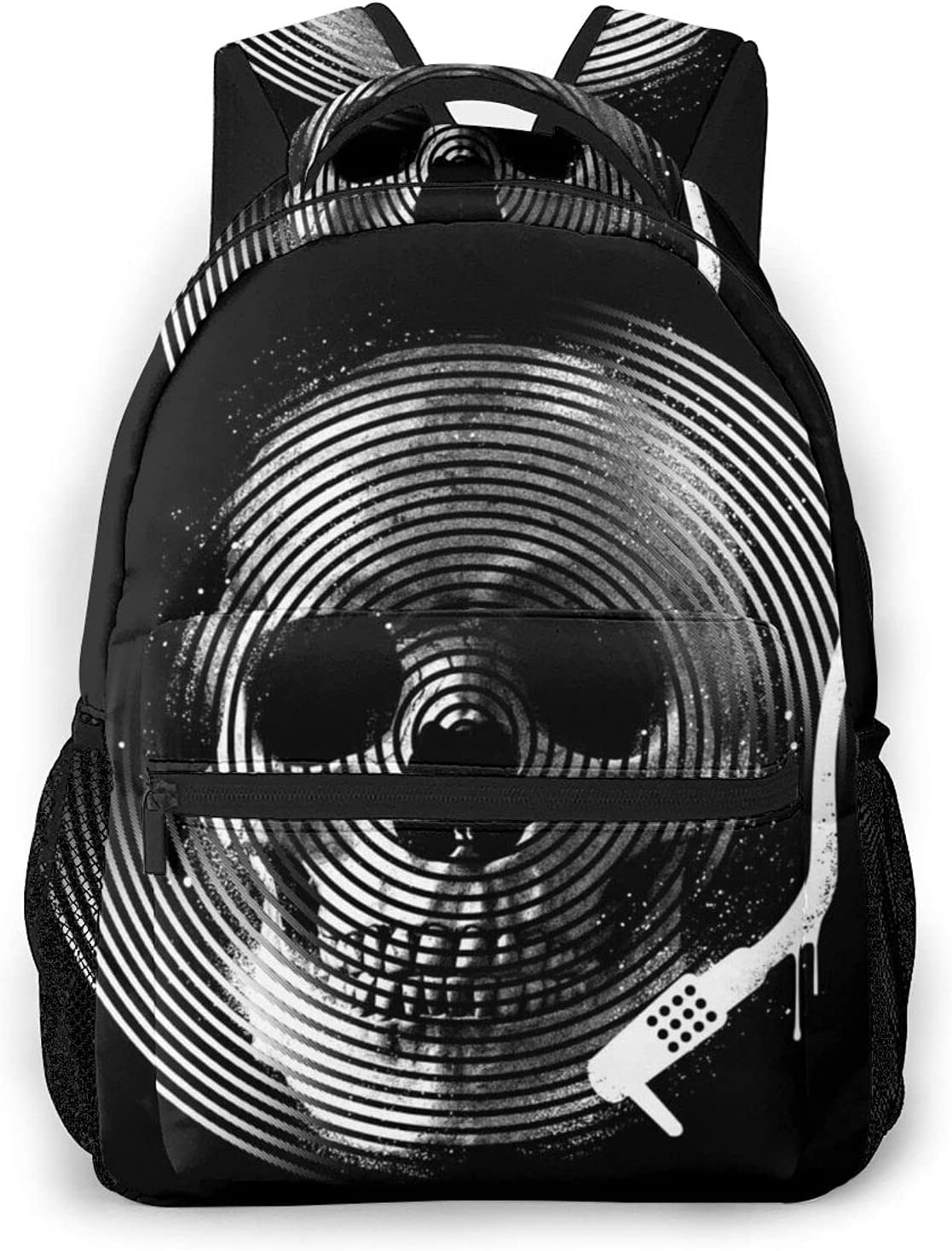 Death Tune trend rank 3D Printing Bookbags Rucksack Credence Backpack Laptop College