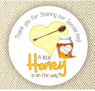Baby Shower Stickers - A Little Honey is on the way Stickers - Thank you for Celebrating with me