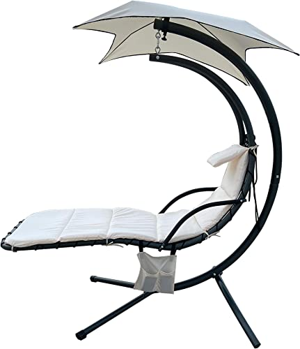 BalanceFrom Hanging Curved Chaise Lounge Chair Swing
