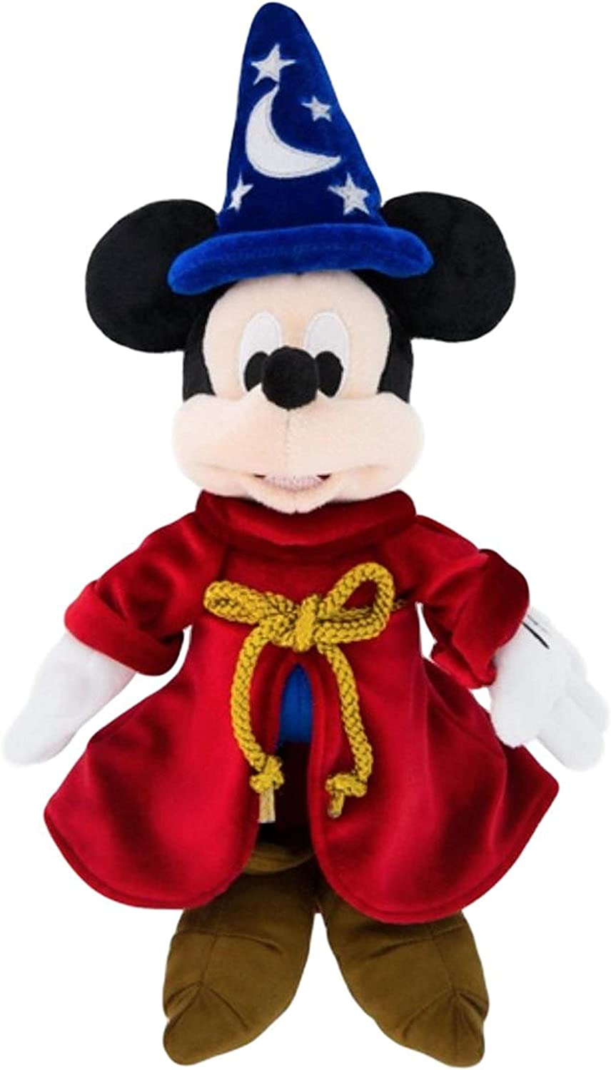 Disney Parks Mickey Mouse Sorcerer Plush  13  Tall