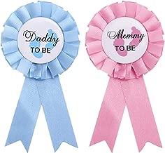 SUSSURRO Babyparty Deko Junge Set Baby Shower Junge//Baby Party Dekoration Neugeborene Fotorequisiten Masken Mum to Be Blau Sch/ärpe und Konfetti Blau