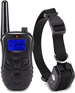 igingko Dog Training Collar, 1000ft Range No Harm Pet Shock Collar with Remote Set - Waterproof, Rechargeable for Small Medium Large Dogs, Built in Beep, Vibration and Shock Modes