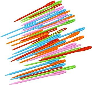 ROSENICE 40 stücke Kunststoff Nähnadeln für Kinder Nähen Handwerk und Nadel Projekte 7 cm und 9 cm Mischfarbe